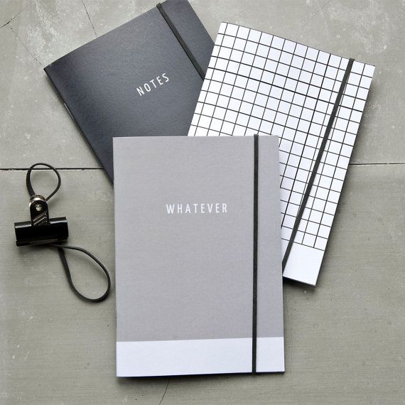 Shades of Grey Notebook Collection Journal Set of 3 by PASiNGA