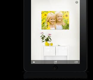Sehen Sie, wie Ihre Fotos als Poster, Fotoleinwand, als Foto hinter Acrylglas oder als Foto auf Alu-Dibond an Ihrer eigenen Wand zu Hause aussehen.