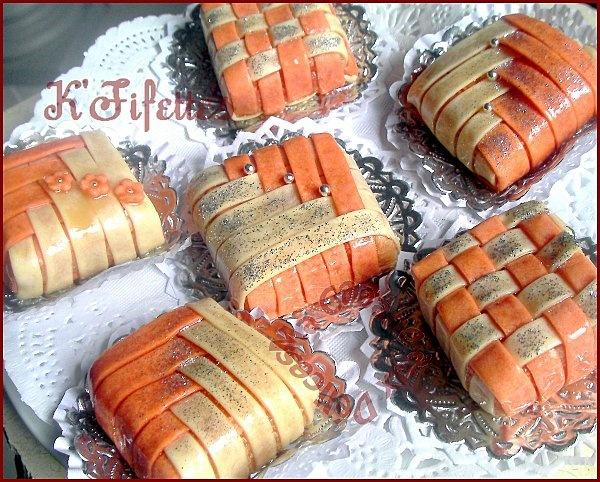 K'fifette - Algerian sweets (woven almond boxes)