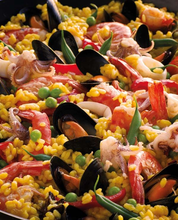 One of the dishes in Tapas Movida, Cipete, Jakarta is Paella de Mariscos, a traditional Mediterranean yellow rice dish with chicken and seafood.