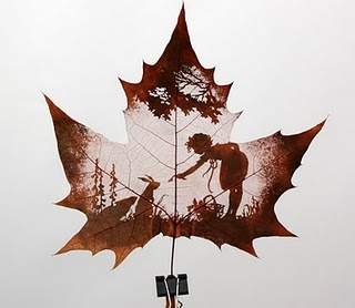 Real leaf cutting by Lonagl Craft Co., 100% carved by hand
