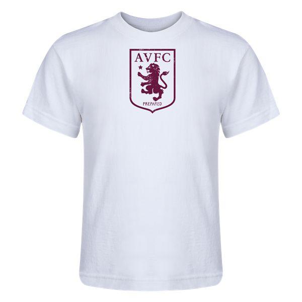 Aston Villa Distressed Club Logo Kids T-Shirt