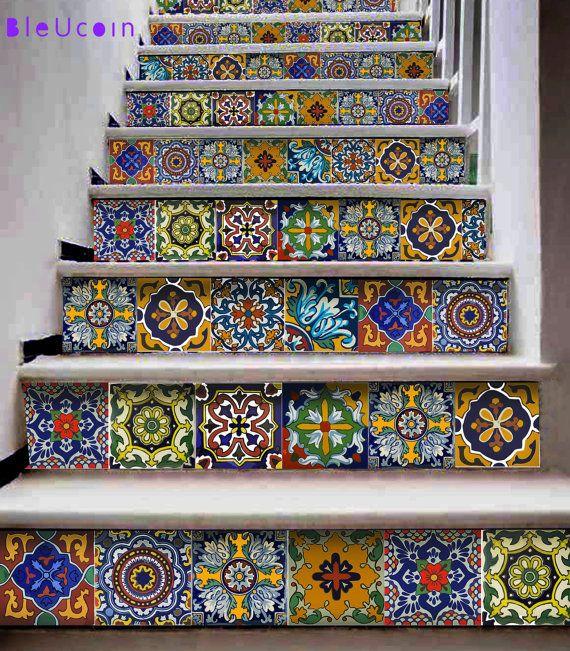 Fliesen / Wand / Treppen Abziehbild: Mexican Stil- 11 Dessins