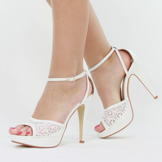 details zu jumex high heels riemchen pumps weiss b9351 damen schuhe pumpe abs tze und. Black Bedroom Furniture Sets. Home Design Ideas