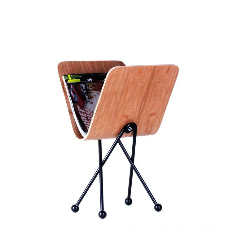 Molded plywood magazine rack