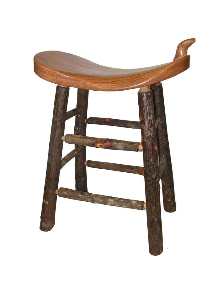 24  Rustic Cabin Hickory Oak Western Saddle Bar Stool seat  sc 1 st  Pinterest & 21 best Saddle bar stools images on Pinterest   Saddle bar stools ... islam-shia.org