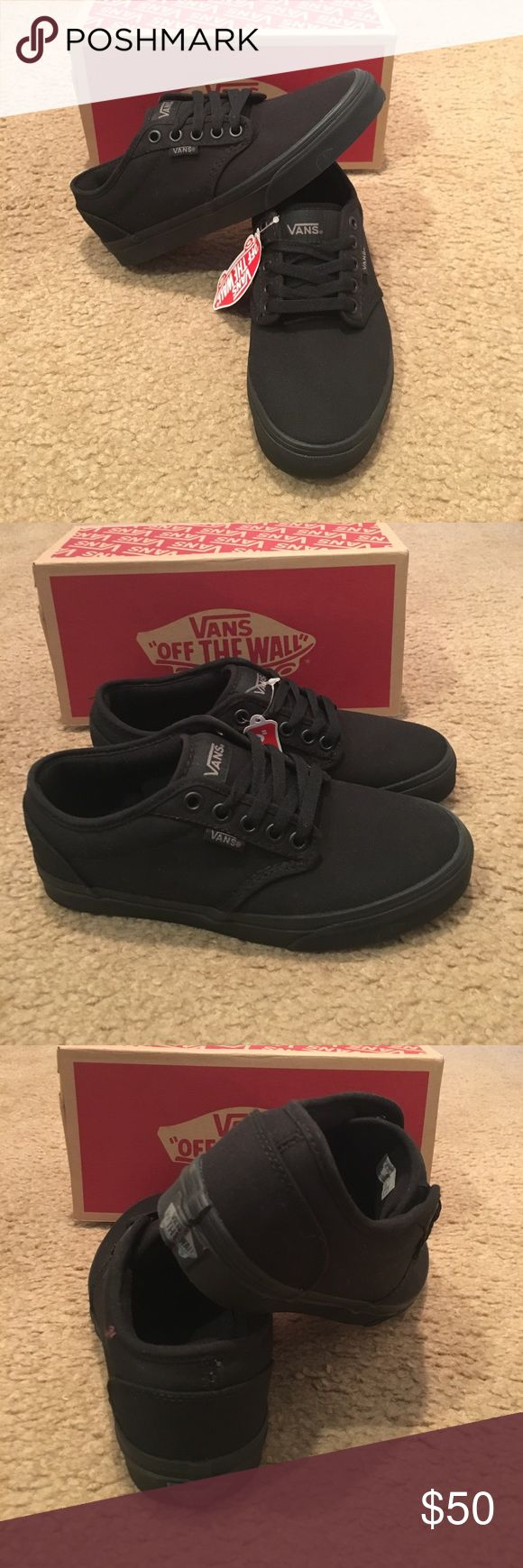 Atwood Canvas Vans New in box. Black Vans Shoes Sneakers
