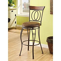 Swivel Brown Bar Stool (Set of 2) | Overstock™ Shopping - Great Deals on Bar Stools