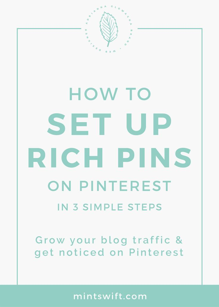 """How to enable rich pins for my blog 