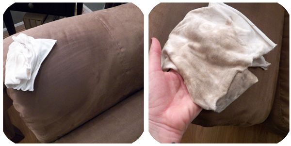 How to clean Microfiber furniture using ONE ingredient! This is awesome.