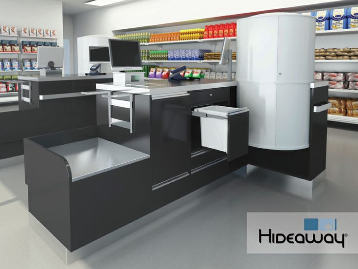A 15L Hideaway Bin at a checkout makes it simple to dispose of waste efficiently, keeping it hidden out of sight from customers.