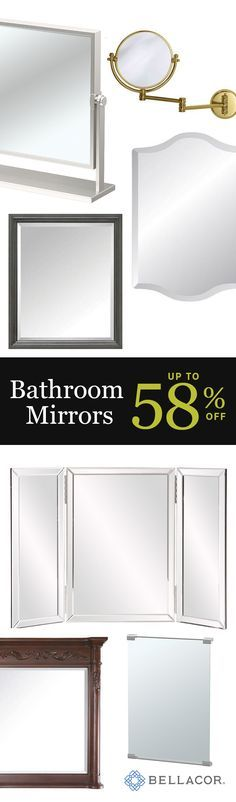 """It only makes sense that your choice in mirrors should """"reflect"""" your good taste. Our collection of mirrors features all types of sizes, shapes and styles to suit your personal preferences and decorative needs. From square wall mirrors that brighten up an entryway to round bathroom mirrors and makeup mirrors that help you look your very best, we have all the essentials...plus special deals for the Holidays!"""