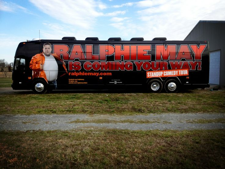 Ralphie may's tour bus.