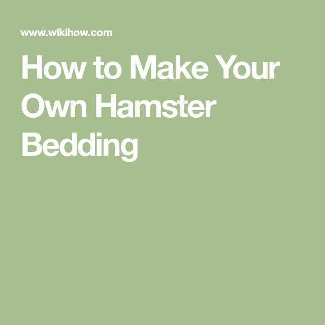 How to Make Your Own Hamster Bedding