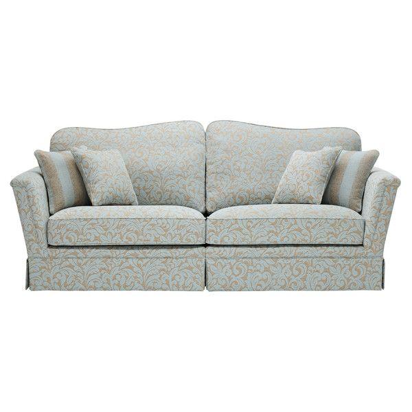 Floral Duck Egg Fabric Sofas 4 Seater Sofa Lanesborough Range Oak Furnitureland Sofa Fabric Sofa Upholstered Sofa
