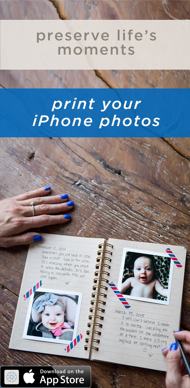 The perfect way to hold on to memories. Use the timeshel app to receive beautiful prints each month- straight from your iPhone to your door, starting at $5.95/month - shipping included!
