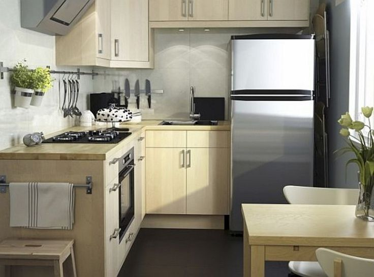 Making The Most Of Modern Small Kitchens : Small Kitchen With Smart L  Shaped Kitchen Design