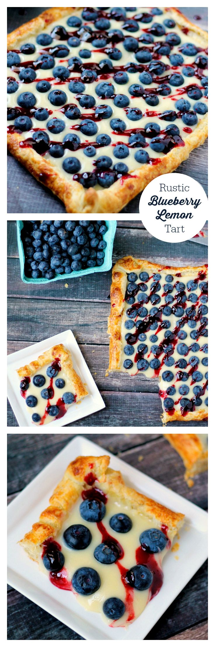 Rustic Blueberry Lemon Tart | Recipe | Lemon Filling, Lemon Tarts and ...