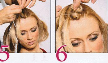 Модная прическа на средние волосы «Венок»