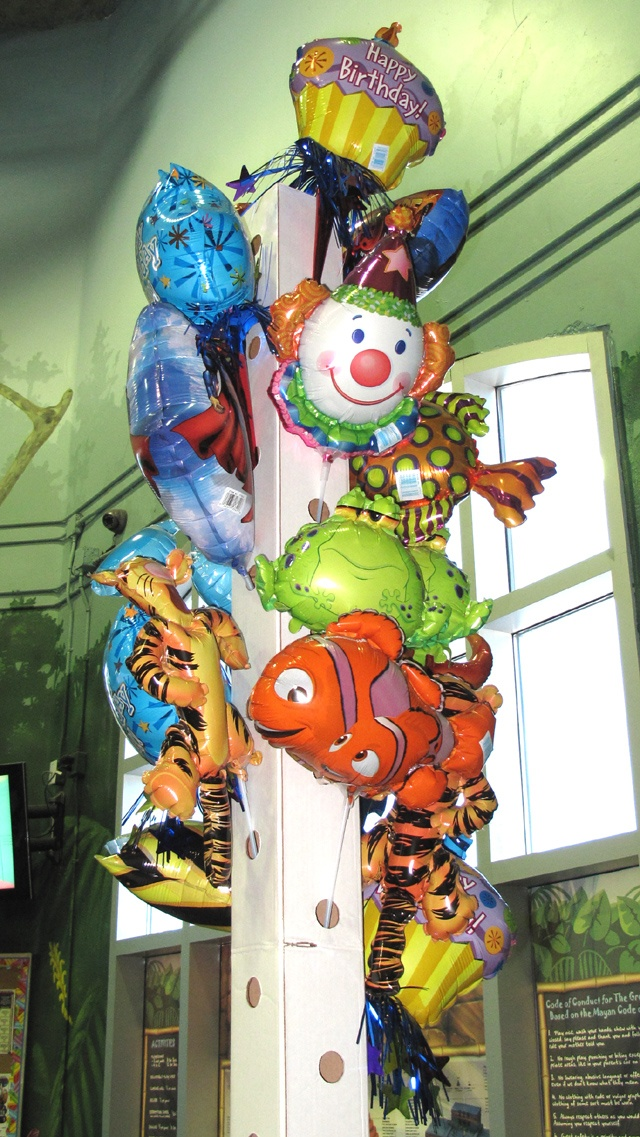 At The Great Escape we also have balloons on a stick.