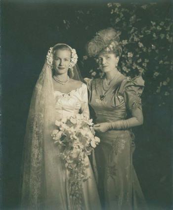 Marjorie Merriweather Post at daughter Dena's 1946 Wedding (Photo courtesy of Hillwood Museum)