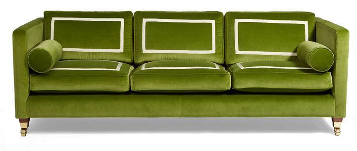 Peyton Sofa | Diane Bergeron for Arthur G | Green Velvet Sofa | Californian Glamour | Australian Made | Melbourne | Sydney | Perth http://www.arthurg.com.au/range/diane-bergeron-for-arthur-g