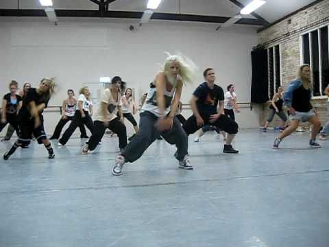The blonde in front is the choreoghrapher, she is awesome... I wish i could dance like this!!!