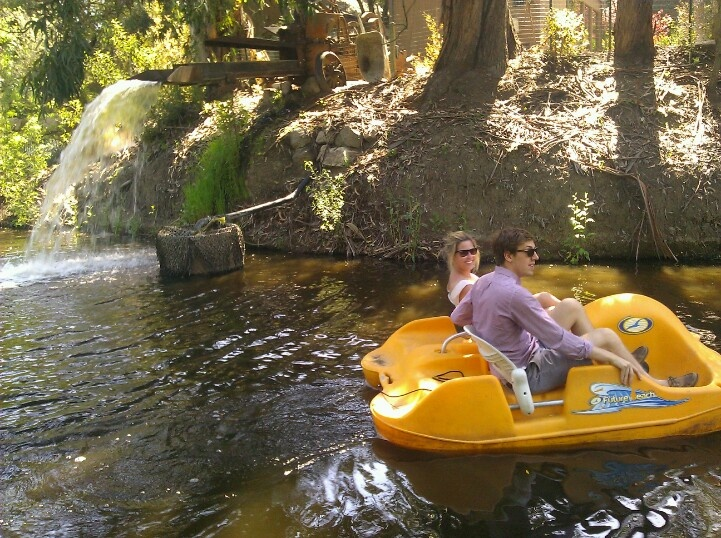 Paddle Boating After A Leisurely Lunch At Malibu Cafe At Calamigos Ranch Ma
