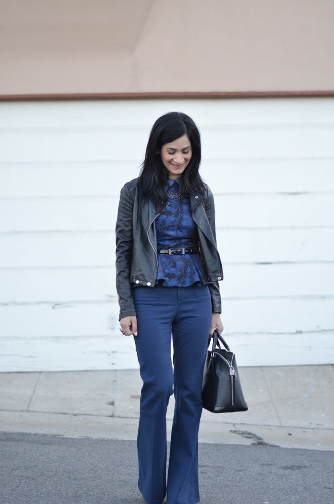 black + blue outfit - i heart vintage couture