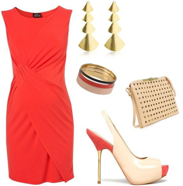 maternity wedding guest red