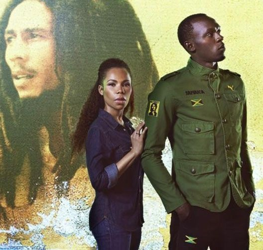 Usain Bolt and Jamaican designer and daughter of Bob Marley, Cedella Marley