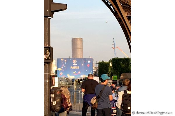 The Euro 2016 Fan Zone was stationed right next to the Eiffel Tower (ATR)