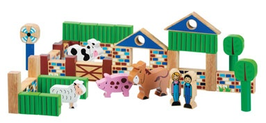 Lanka Kade has a wide range of chunky solid wood sets, including this farm set. A wonderful toy to engage in shared play between parents and children, encouraging endless creativity and imaginative story telling. The set comprises two farm characters, animals, and even a wind turbine for the modern farmer, presented in a sturdy wooden tray. The items are made from sustainable rubber wood and are safe for children over 12 months. www.lankakade.co.uk