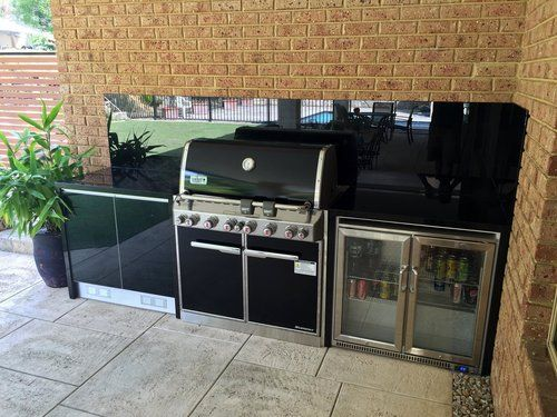 Weber Outdoor Kitchen installed by The Outdoor Chef