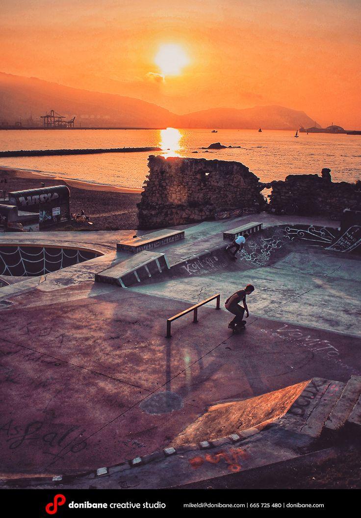 Beach & Skate by Donibane Arrigunaga Beach, Getxo, Basque Country