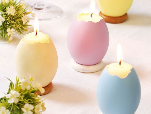 Простые пасхальные свечи для украшения праздничного стола - Блог о праздниках