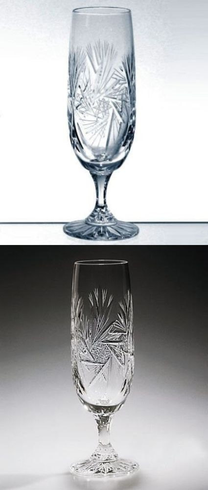 Glassware 102467: Handcut Crystal 6 Ounce Champagne Flute Glasses - Pinwheel - Set Of 6 -> BUY IT NOW ONLY: $80.31 on eBay!