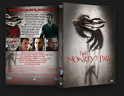 The Monkey's Paw - 2013 - DVD Cover  Jake is given a monkey's paw that grants three wishes. After the first two wishes leave his friend Cobb undead, Cobb pushes Jake to make a final wish. tt2513092