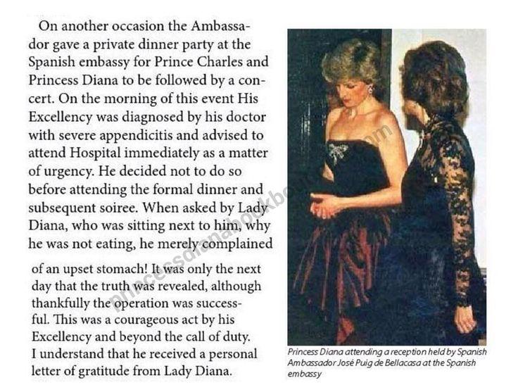 March 21, 1987: Prince Charles & Princess Diana attending a reception for Spanish Ambassador Jose Joaquin Puig de la Bellacasa at the Spanish Embassy in London.