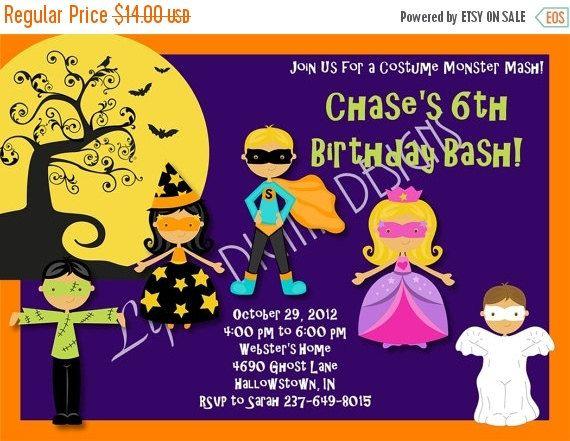 30 best halloween birthday party invitations images on pinterest halloween birthday party invitations by lifesdigitaldesigns filmwisefo