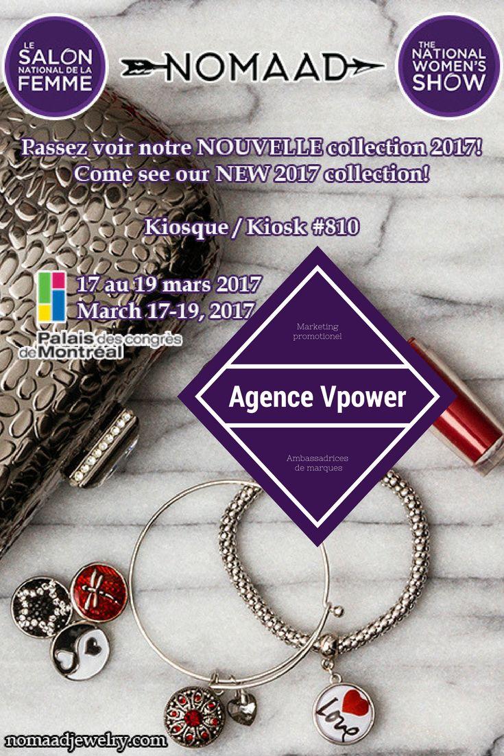 L'agence Vpower et ses ambassadrices de marques sont au salon nationale de la femme de montréal tout le week-end avec les bijoux Nomaad; passez vous gâter !!