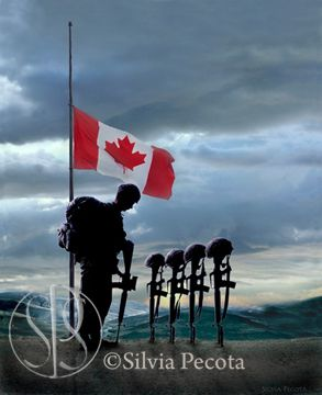 Silvia Pecota - Artwork - Canadian Forces - Fallen