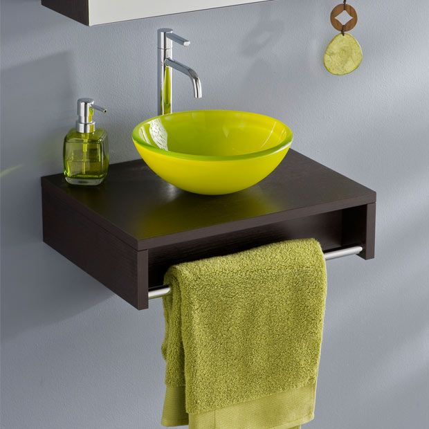 Plan lave mains Evasion sans vasque - Wengue - Lapeyre Prix : 64€ pour le plan et 55€ pour la vasque