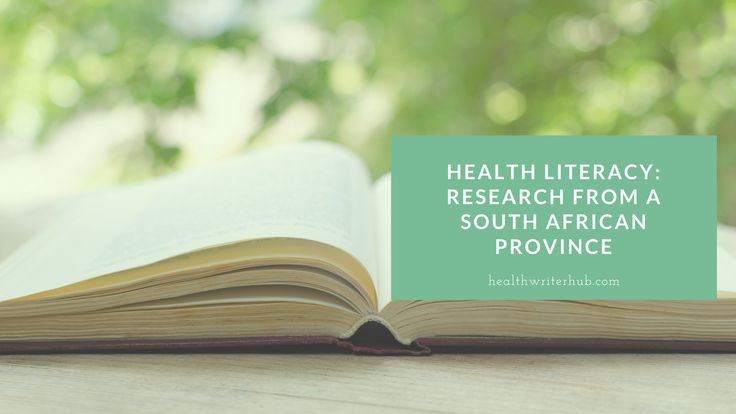 Health literacy: Research from a South African province