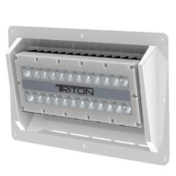 Lumitec Triton - High Power/Semi-Recessed Mount Flood Light - White Finish - White Non Dimming