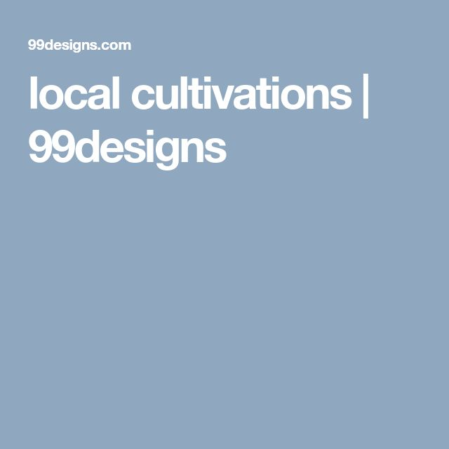 local cultivations  | 99designs