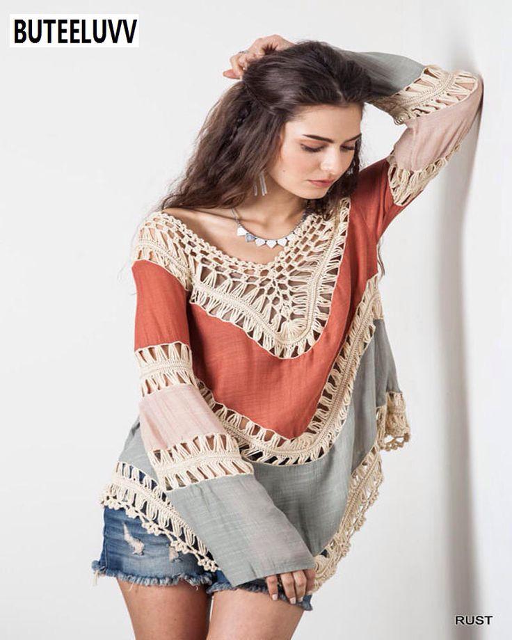 2016 Nieuwe Boho V-hals Wit Kant Gehaakte Vrouwen Katoen Blouses Plus Size Zomer Strand Kimono Lady Shirt Tuniek Tops Blusa Feminina