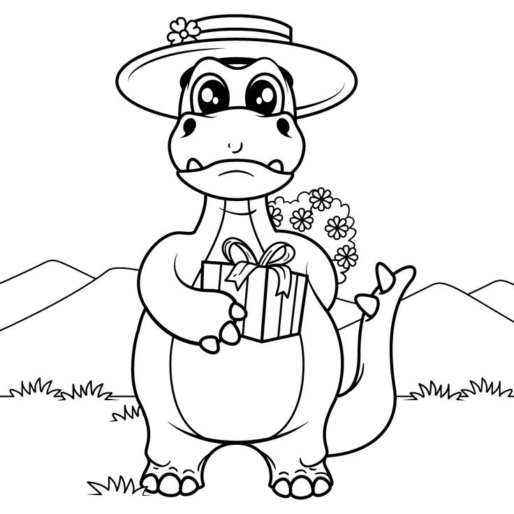 40 best Dinosaur Coloring Pages images on Pinterest | Coloring books ...
