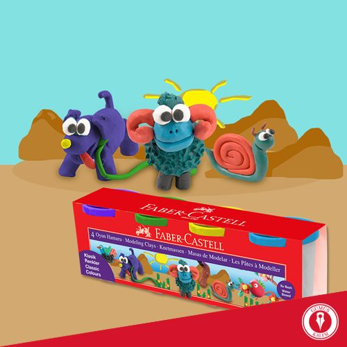 Rengarenk ve eğlenceli renk seçenekleri bulunan yapışmaz-ufalanmaz oyun hamurları ile bu yaz minikler yaratıcılıklarını eğlenerek ortaya çıkaracak! www.gumuskalem.com.tr
