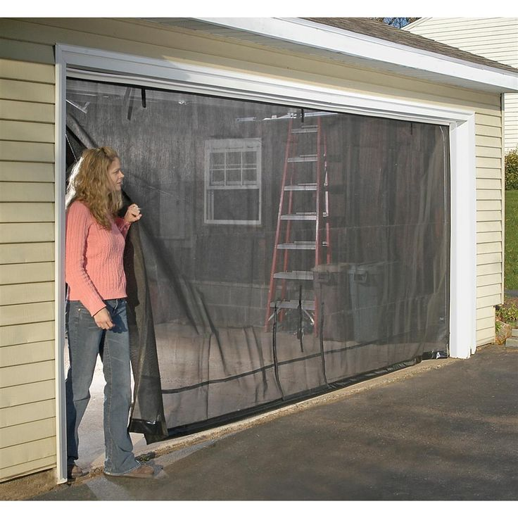 17 best images about garage screen door on pinterest for Retractable double garage door screen